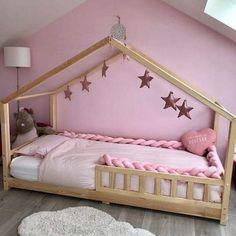 Toddler And Baby Room, Diy Toddler Bed, Toddler Rooms, Big Girl Rooms, Baby Boy Rooms, Baby Bedroom, Girls Bedroom, Kids Bedroom Designs, Kids Room Design