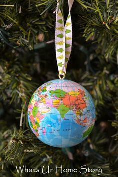 How to make a globe ornament -Whats Ur Home Story