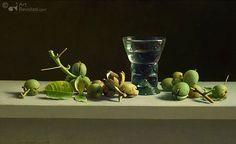 Henk Helmantel - Stilleven met walnoten en romeins glas