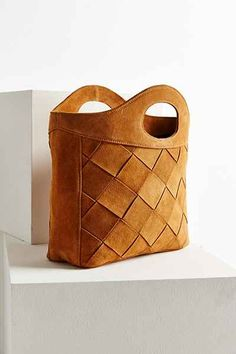 Ecote Suede Woven Elbow Bag - Urban Outfitters