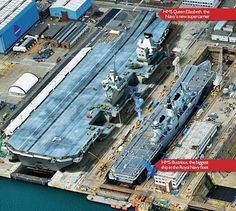 """News on HMS Queen Elizabeth Aircraft Carrier (R08 QE-class battleships). Latest news on the construction progress of the """"pride and joy"""" of the British Royal Navy – the UK aircraft carriers of the future – being built now!"""