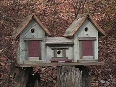 Birdhouse Brokerage makes birdhouses out of old barn wood. I have a bunch at…
