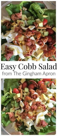 Easy Cobb Salad- loaded with delicious protein and fresh lettuce, this salad is healthy and tasty!