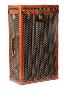 1930's Goyard Wardrobe Trunk by Mantiques Modern on Gilt Home.  Let's be real...this is AMAZEBALLS!!!