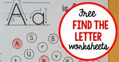 Looking for free alphabet worksheets? Print these fun letter find pages!