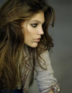 love the tousled hair and makeup