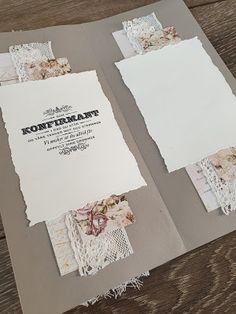 min lille scrappe-verden: Konfirmantkort jente Cards Against Humanity, Scrapbooking, Slim, Creative, Scrapbooks, Memory Books, Scrapbook, Notebooks
