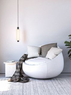 Single | Black Anodised Metal | White Frosted Glass Sebastian Herkner, Modular Design, Frosted Glass, Lighting Design, Wall Sconces, Bean Bag Chair, Furniture Design, Lights, Interior Design