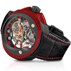 Franc Vila Cobra Suspended Skeleton Ref. Luxury Watches, Skeleton, Red Gold, Stuff To Buy, Clocks, Accessories, Menswear, David, Shoe