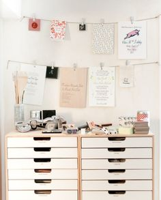 Storage + space for organization