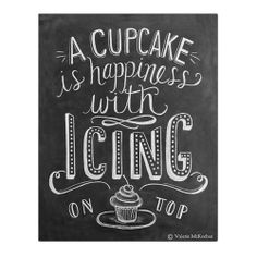 A Cupcake is Happiness with Icing On Top by Lily & Val on THEHOME.COM.AU