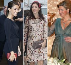 Royal pregnancy style: Duchess of Cambridge garnering fashion tips from pregnant princesses of the past few years.