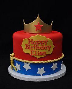 Birthday Cake For Women Fondant Mom 57 Trendy Ideas - Birthday Cake Flower Ideen Wonder Woman Birthday Cake, Wonder Woman Cake, Wonder Woman Party, Birthday Woman, Superhero Cake, Superhero Birthday Party, Birthday Celebration, Birthday Cakes For Women, Birthday Cake Girls