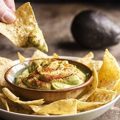 Avocados are pureed with lime juice and a touch of sour cream in this Avocado Crema. Great as a taco topping, a sauce, or a dip!