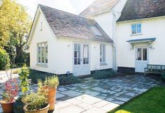 Extending a house: the ultimate guide - country traditional style extensions - Kitchen Extension Exterior, Porch Extension, Orangery Extension, Single Storey Extension, Cottage Extension, House Extension Design, Extension Ideas, House Extension Plans, Bungalow Extensions
