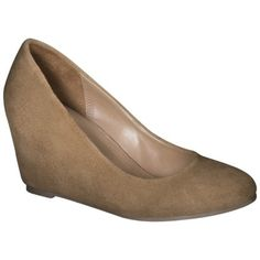 Target Women's Merona® Mackenzie Suede Wedge Pumps - Light Tan
