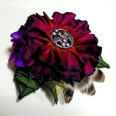 Cynthia Emerlye, Vermont artist and kirigami papercutter: Purple Ribbonwork Hat & Coat Ornaments