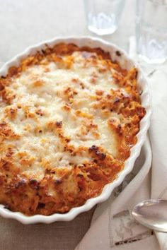 Italian Chicken and Pasta Bake recipe via pauladeen.com!