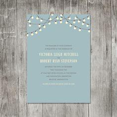 Party Lights Invitation #wedding #invitations #invites