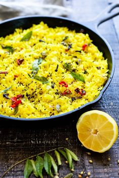 Vegetarian Rice Dishes, Vegetarian Recipes Dinner, White Rice Recipes, Indian Side Dishes, Spiced Rice, Indian Diet, Lemon Rice, Indian Food Recipes, Ethnic Recipes