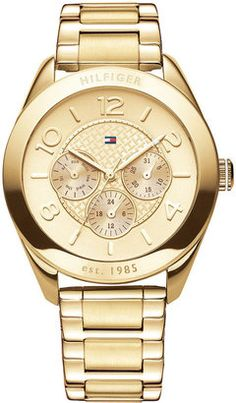 ShopStyle: Tommy Hilfiger Watch, Women's Gold Plated Stainless Steel Bracelet 40mm 1781214 Tommy Hilfiger Women, Tommy Hilfiger Mujer, Tommy Hilfiger Watches, Tommy Watches, Gold Watches Women, Watches For Men, Female Watches, Women's Watches, Emporio Armani