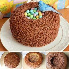 bolo em formato de casa de passarinho - Pesquisa Google