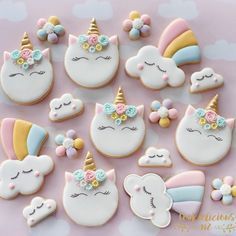 "175 Likes, 8 Comments - Alex (@sweetsavannacookies) on Instagram: ""More Unicorns to brighten your day! I know they make me happy! These beautiful pastel unicorns are…"""