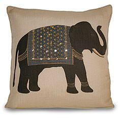 How to Decorate Your Child's Bedroom in an Elephant Theme Elephant Throw Pillow, Elephant Cushion, Throw Pillows, Hand Work Blouse Design, Elephant Pictures, Indian Elephant, Elephant Design, Indian Home Decor, Animal Pillows