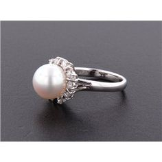 Pearl and Diamond Ring...LOVE