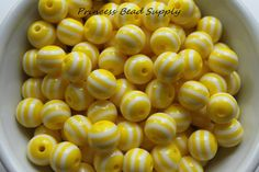 Hey, I found this really awesome Etsy listing at https://www.etsy.com/listing/248308844/12mm-yellow-striped-beads-set-of-20-or