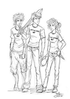 Grover Underwood, Percy Jackson, Annabeth Chase. The original trio.