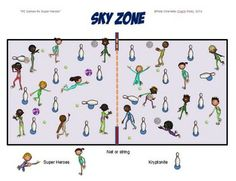 "PE GAMES FOR SUPERHEROES!- ""SKY ZONE"" - TeachersPayTeachers.com"