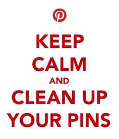 Keep calm and organize your pins
