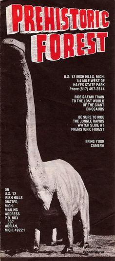 Prehistoric Forest  Irish Hills Michigan  Old Brochure