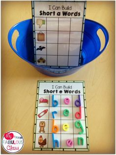 CVC Word Builders-Morning Work Buckets