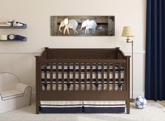 Elephant Nursery Decor wall art- Baby room decor - Parade of elephants- Natural Wood and Bare Metal - Reclaimed wood - Made in Austin, TX, USA