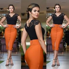 How To Look Classic Like Serwaa Amihere For Plus Size & Curvy Ladies 2020 – Pencil Skirts That Make You Look Cool Classy Outfits, Stylish Outfits, Fall Outfits, Look Fashion, Fashion Outfits, Womens Fashion, Vetement Fashion, African Fashion Dresses, I Dress