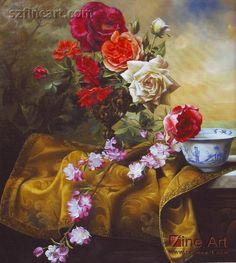 beautiful clássicas ainda pinturas a óleo sobre tela flores-Pintura e Caligrafia-ID do produto:202879706-portuguese.alibaba.com