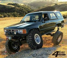 Image may contain: sky, mountain, car, outdoor and nature Toyota Pickup 4x4, Toyota Trucks, 4x4 Trucks, Custom Trucks, Toyota Prerunner, Toyota Hilux, Toyota Tundra, Toyota Tacoma, 1st Gen 4runner