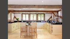 country kitchen with high ceiling exposed oak a frames new house