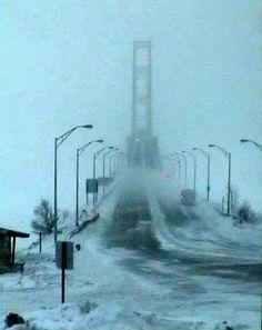 Wow, we will wait till July 2014 to see the bridge The Mackinac Bridge, 19 January 2014 Miss Michigan, Michigan Travel, Detroit Michigan, Lake Michigan, Marquette Michigan, Northern Michigan, Mackinaw City, Mackinac Bridge, Upper Peninsula