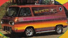 Ford Econoline these Vans are cool, I feel like eatin' some Scooby snacks. Station Wagon, Rat Rods, Ford Trucks, Pickup Trucks, Classic Trucks, Classic Cars, Van Drawing, Old School Vans, Van Car