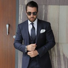 Gentlemen Wear This - I want his hair, beard, face and dress in that awesome three piece suit.and then add those sunglasses.