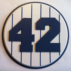 Retired Number 42 Plaque Yankees Mariano Rivera - large