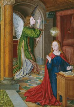 John Hey, The Annunciation 1490-1495, The Art Institute of Chicago, Martin A. Ryerson photography ©