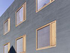 75 Best DIY Room Decor Ideas for Teens - Architecture Designs Architecture Portfolio, Facade Architecture, Architectural Section, Building Facade, Windows And Doors, Wooden Windows, Coloured Render, Mainz Germany, Wooden Facade