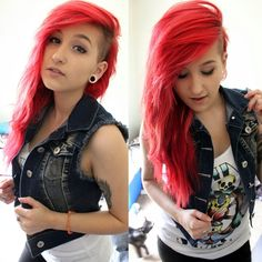 when i get into high school im dying my hair back this color and might do the shaved side thing put im not punk just a touch of hipsta