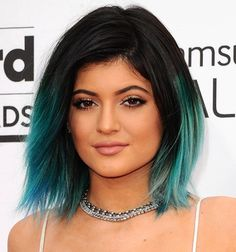 Long bob hairstyles for thick hair. Long bob hairstyles with side bangs. Long bob hairstyles for round face. Teal Hair, Ombre Hair Color, Green Hair, Hair Colors, Blue Ombre, Faded Hair Color, Blue Green, Lilac Hair, Red Purple