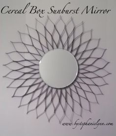Recycled Cereal Box Sunburst Mirror - bystephanielynn