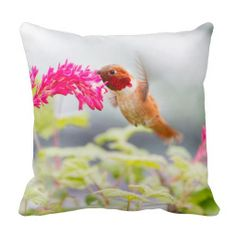 Flying Hummingbird and Flowers Pillow by FunNaturePhotography on Zazzle. #hummingbirds #flowers #pillows http://www.zazzle.com/funnaturephotography*